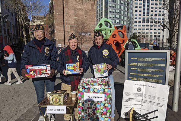 波城華埠退伍軍人會為兒童募捐玩具