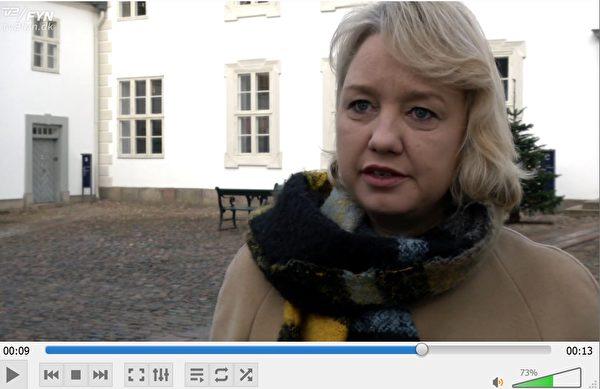 自由黨(V)議員簡·傑基得(Jane Jegind)說:「我們需要對此事從頭查起。讓我們考慮紅綠聯盟黨議員的提議,把此事拿到議會的會議上討論。因為我們每個人都想得到一個清楚的解釋。我們不能忍受這種不確定的奇怪過程。」(丹麥電視二台電視新聞截圖)