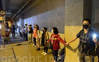 组图:11.30九龙湾人链 声援理大学生