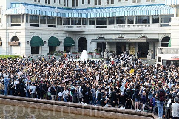 2019年12月1日,香港民眾在尖沙咀「毋忘初心遊行集會」。(宋碧龍/大紀元)