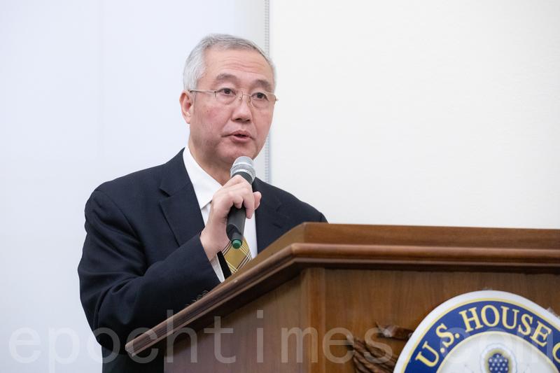 追查迫害法輪功國際組織主席汪志遠。(林樂予/大紀元)