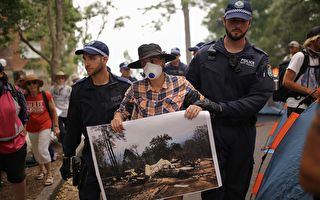 总理官邸外扎营抗议 澳10名环保主义者被捕
