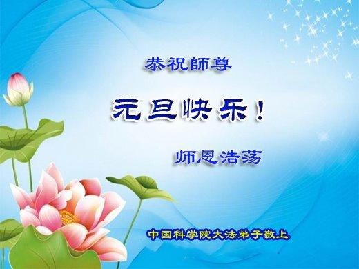 在2020年來臨之際,來自中國30個省、直轄市和自治區的近50個行業的法輪功學員恭祝李洪志大師新年快樂。(明慧網)