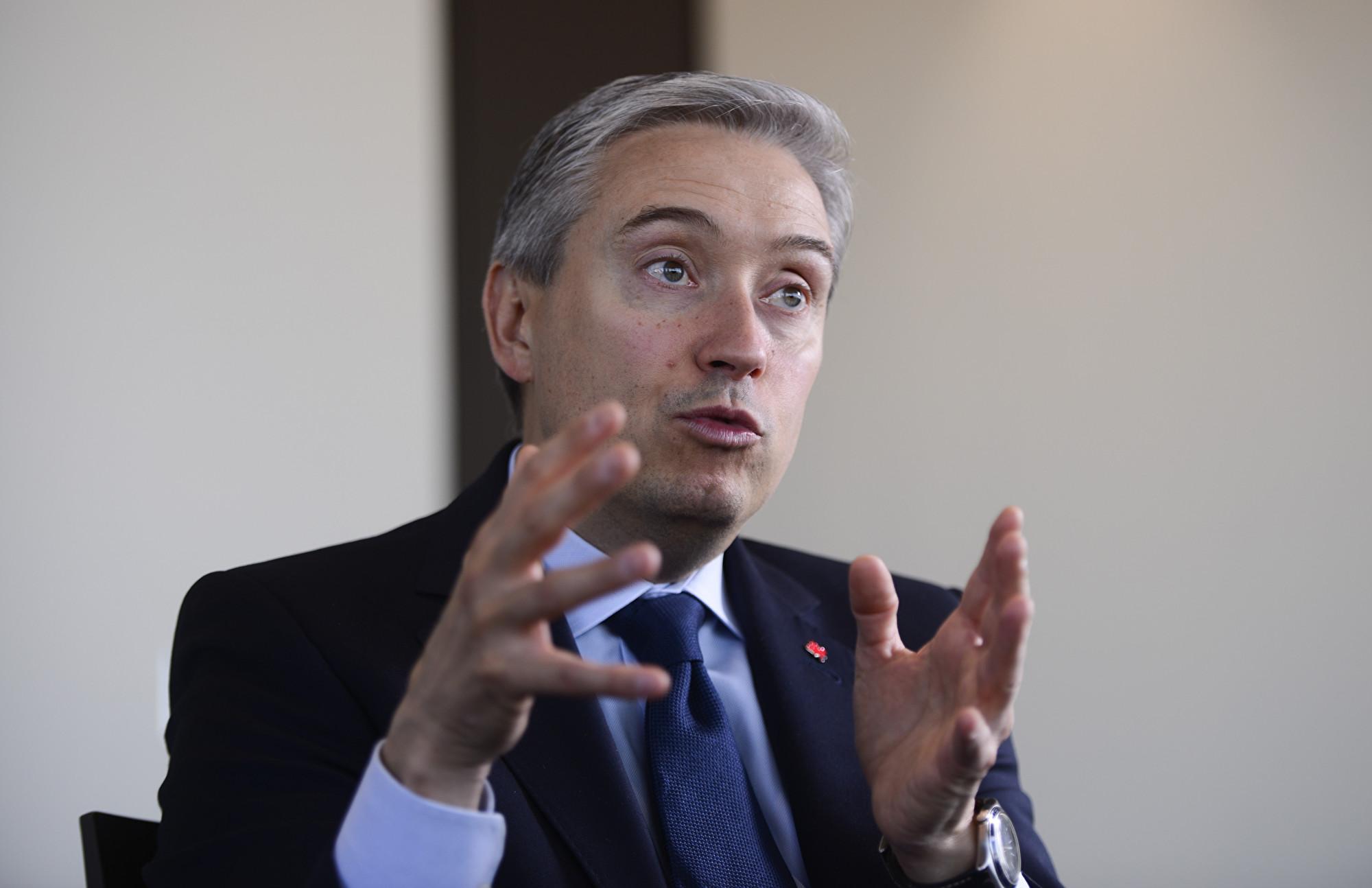 加拿大外交部長商鵬飛(Francois-Philippe Champagne)11月17日在國會回應,不能容忍任何外國政府的這類行為,並表示可能對肇事者提出刑事指控。(加通社)