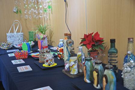 环保艺术家黄静枝老师团队,邀约民众将生活中的废弃物,变身为生活艺术品。