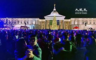 全台最热闹耶诞舞会 奇美博物馆万人舞动