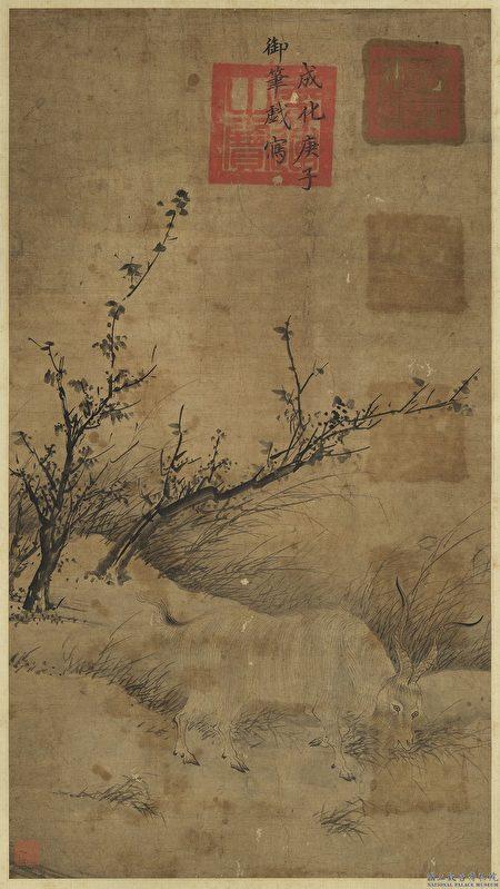 明憲宗 冬至一陽圖 。(台北 故宮博物院提供)