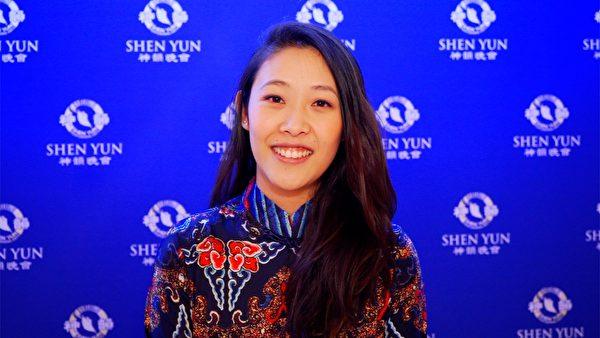 華裔演員Ellen Mah觀看了神韻演出,她讚歎神韻「超乎想像的美」。(新唐人電視台)