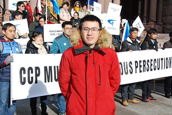 大陸留學生張真瑜說,可悲的是,人權、自由、平等在中國大陸年輕一代中比較陌生,他們甚至把這些詞污名化。(伊鈴/大紀元)