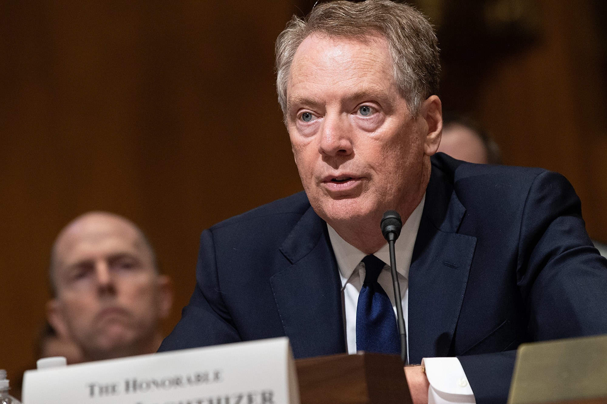 圖為美國貿易代表羅伯特·萊特希澤(Robert Lighthizer)。(NICHOLAS KAMM/AFP via Getty Images)