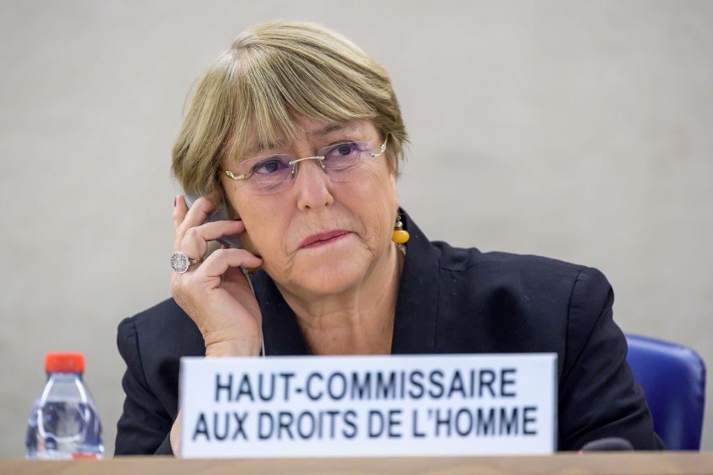 聯合國人權事務高級專員米歇爾·巴切萊特(Michelle Bachelet)11月30日呼籲香港特首林鄭月娥,對警方進行調查,並通過對話解決危機。(FABRICE COFFRINI/AFP via Getty Images)