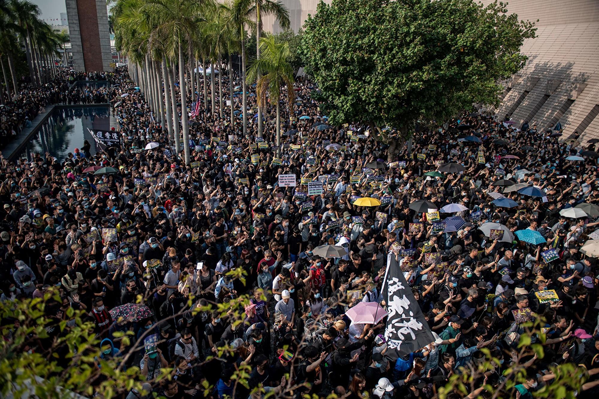 組圖:12.1至少38萬港人遊行 擠爆尖沙咀