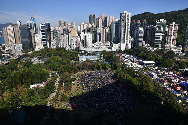2019年12月8日,港人舉行「國際人權日」集會大遊行。(ANTHONY WALLACE/AFP via Getty Images)