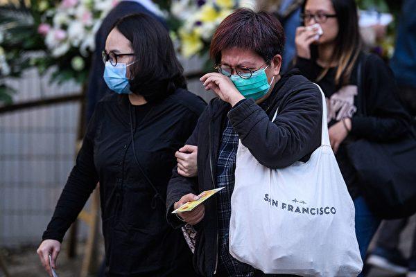 2019年12月12日,香港民眾前來悼念墜亡的科大周學生周梓樂。(ANTHONY WALLACE/AFP via Getty Images)