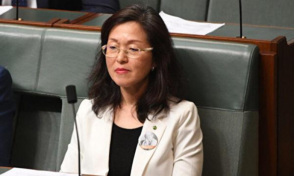 2019年11月25日,自由黨國會議員Gladys Liu在澳洲坎培拉國會大廈的眾議院中。(Tracey Nearmy/Getty Images)