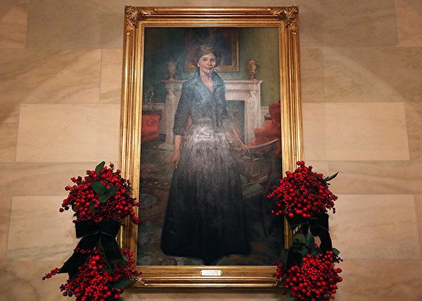 白宮盛裝迎接2019年聖誕節。(Mark Wilson/Getty Images)