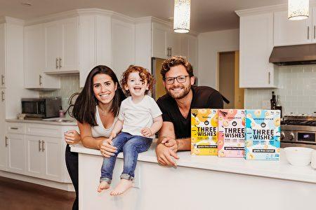 打造健康谷片品牌的威辛格一家人。(Three Wishes提供)