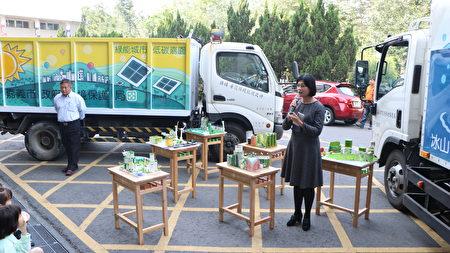 林森国小校长吴淑任谈学校很荣幸得奖,会持续努力,在节电及绿能方面着墨。