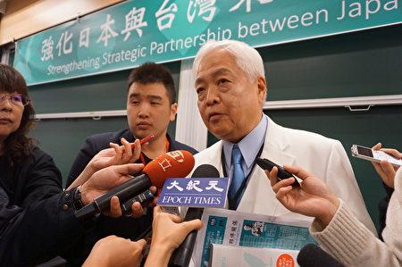 """福和会结合日本保守派联盟(JCU),在12月14日举办""""强化日本与台湾策略伙伴关系""""国际论坛。日本国际问题研究专家教授藤井严喜表示,台湾受中国威胁最严重,除了被动的""""防卫""""思考外,更积极作为是""""封锁""""。"""