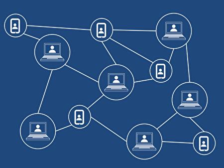 蘇紫雲表示,大師鏈號稱使用區塊鏈技術,但可能不是西方民主國家認知的具有隱匿性的區塊鏈。圖為區塊鏈示意圖。 (Pixabay)
