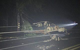 北加州圣拉斐电线杆倒下  造成三千多家用户停电