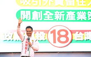 国会党选前大造势 吴旭智要为台湾拼经济