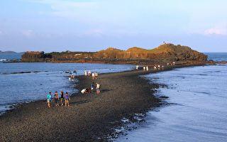 白沙滩・岩之岸 摩西分海奇观