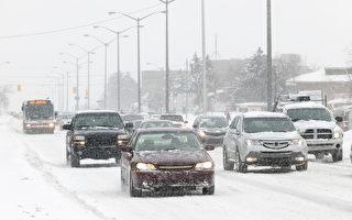 週日GTA冰雪交加 路況危險 車禍頻發