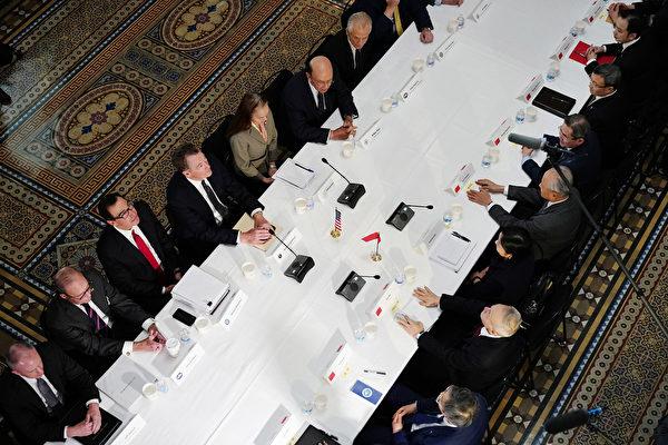 2019年2月21日,中美談判場景。(MANDEL NGAN/AFP)