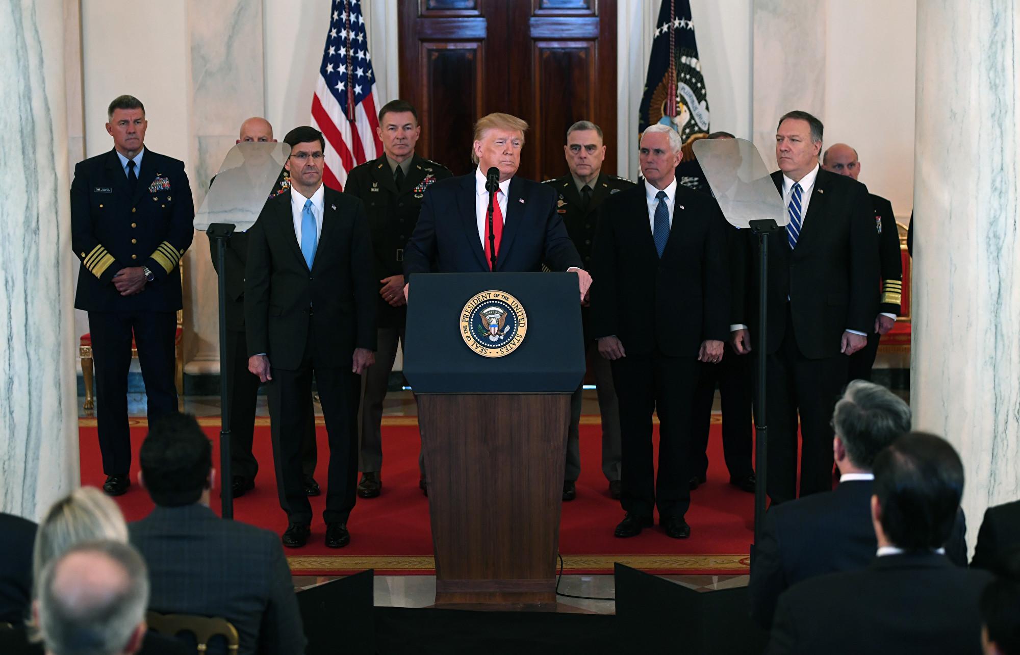 伊朗導彈襲擊美基地 特朗普發表全國講話全文