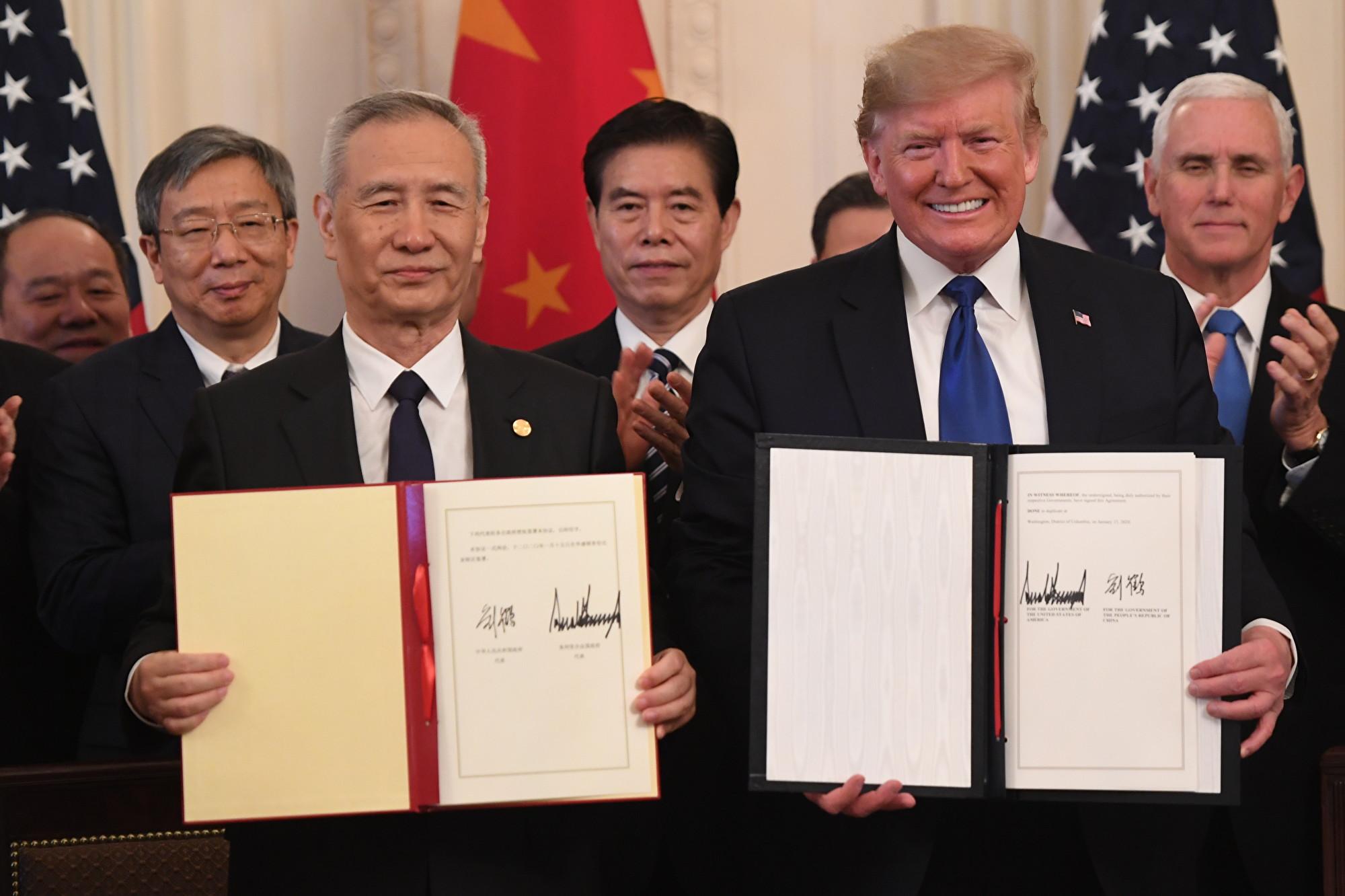 中美簽協議 北京異乎尋常低調 特朗普高調
