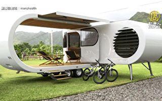 旋转式露营车 8坪大的梦想移动小宅