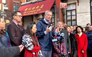 纽约市长现身火场 关注华埠灾后安置(影音)