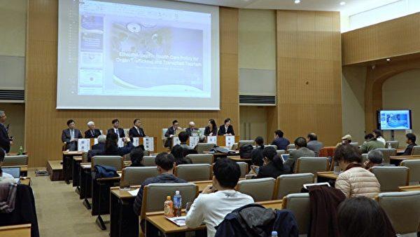 2019年11月30日日本、台灣、南韓及加拿大的醫學界、法律界以及生命倫理界一行九位專家教授於東京大學舉行了針對器官販運及移植旅遊的亞洲研討會。揭露了中共的活摘人體器官。(新唐人提供)