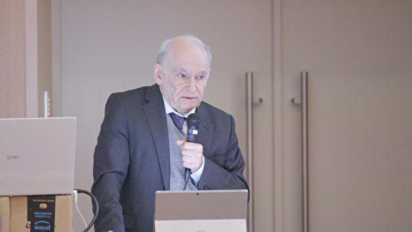 圖為國際人權律師、加拿大勳章得主、2010年諾貝爾和平獎候選人大衛・麥塔斯(David Matas),於2019年11月30日在日本東京大學聯合主辦的針對器官販運及移植旅遊的亞洲研討會表示,有相當可靠且有力的證據表明,中國活摘器官的罪行仍在繼續。(新唐人提供)