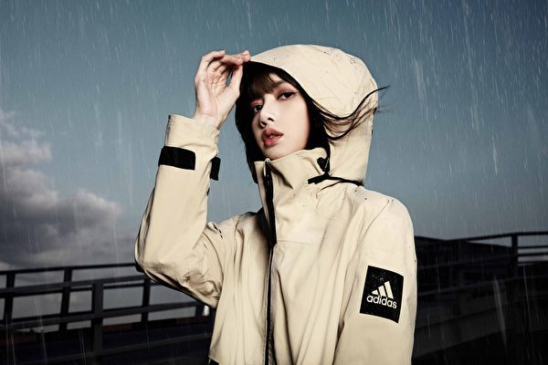Lalisa of BLACKPINK with adidas