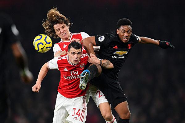 英超第21轮,阿森纳在主场2:0战胜曼联