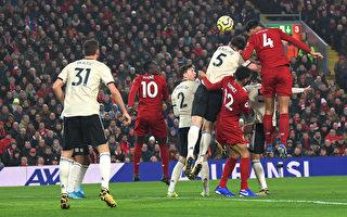英超第23輪,利物浦在主場2:0力克曼聯