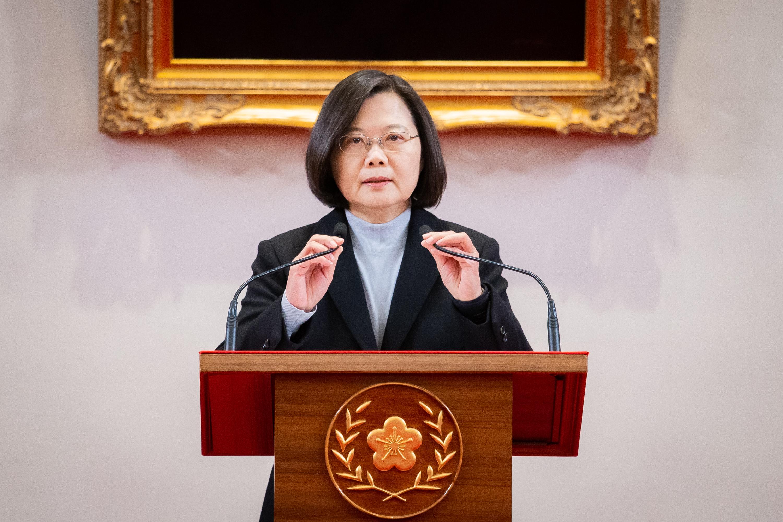 蔡英文:民主不是天上掉下來 台灣走得很辛苦