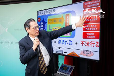 陸委會主委陳明通2日召開記者會,針對媒體報導《反滲透法》的誤區提出澄清。