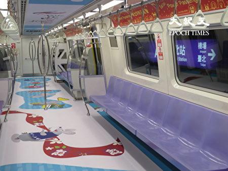 彩绘列车充满浓浓客家风。
