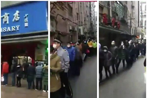 怕上海變武漢 市民超市搶空蔬菜快餐麵口罩