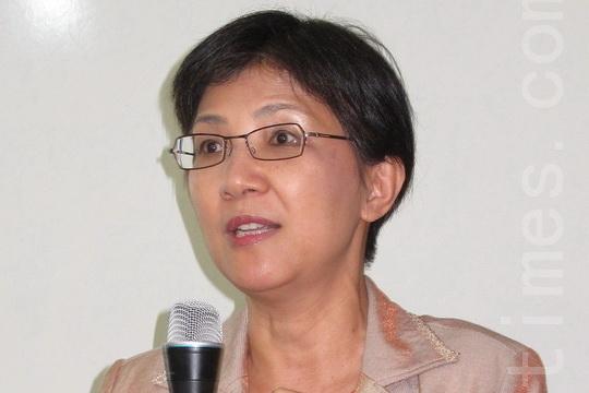 台灣法輪大法學會理事長張錦華教授。(大紀元)