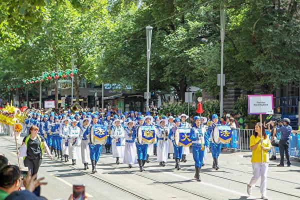 墨爾本國慶大遊行 法輪功展現中華傳統瑰寶