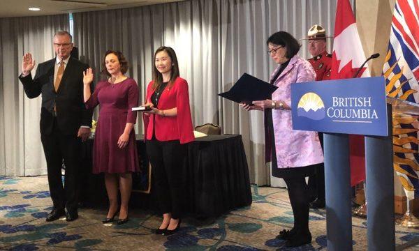 图:卑诗省议员康安礼(Anne Kang)新获升职,成为卑诗省公民服务厅长,首位台湾加拿大人。(康安礼提供)