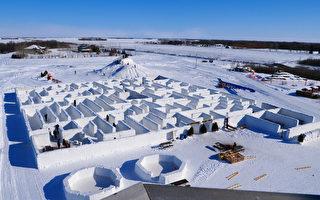 加拿大曼尼托巴省再建世界最大雪迷宫