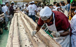 全长6.5公里 世界最长蛋糕在印度出炉