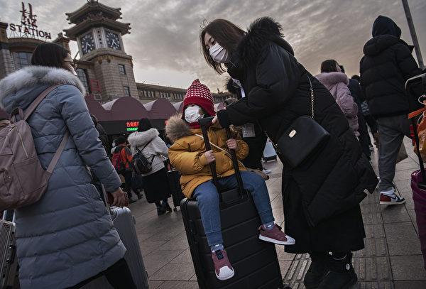 圖為2020年1月21日的北京地鐵站:中共肺炎令人們憂心忡忡。(Kevin Frayer/Getty Images)