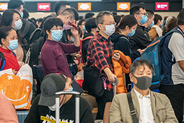 中共肺炎爆發,機場是各國首先注意的焦點。(Anthony Kwan/Getty Images)