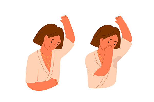 多汗症是指汗异常出得过多,分为全身性和局部性。(Shutterstock)